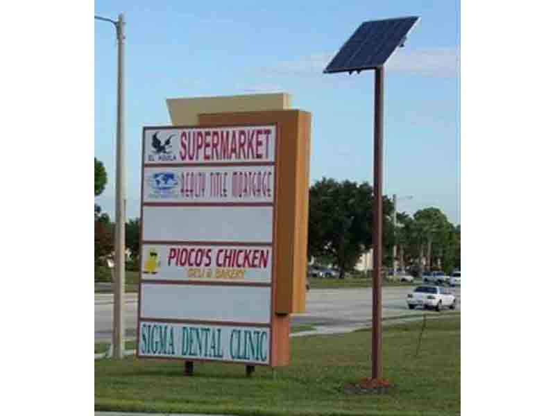 The Sign Center the premier provider of Solar Powered signs from 2001. Contact us to help you meet your Solar Powered signage needs.
